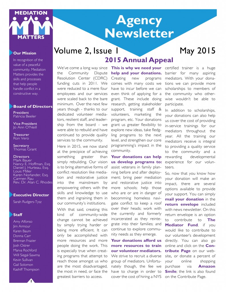 MM May Newsletter - Front - Final Draft