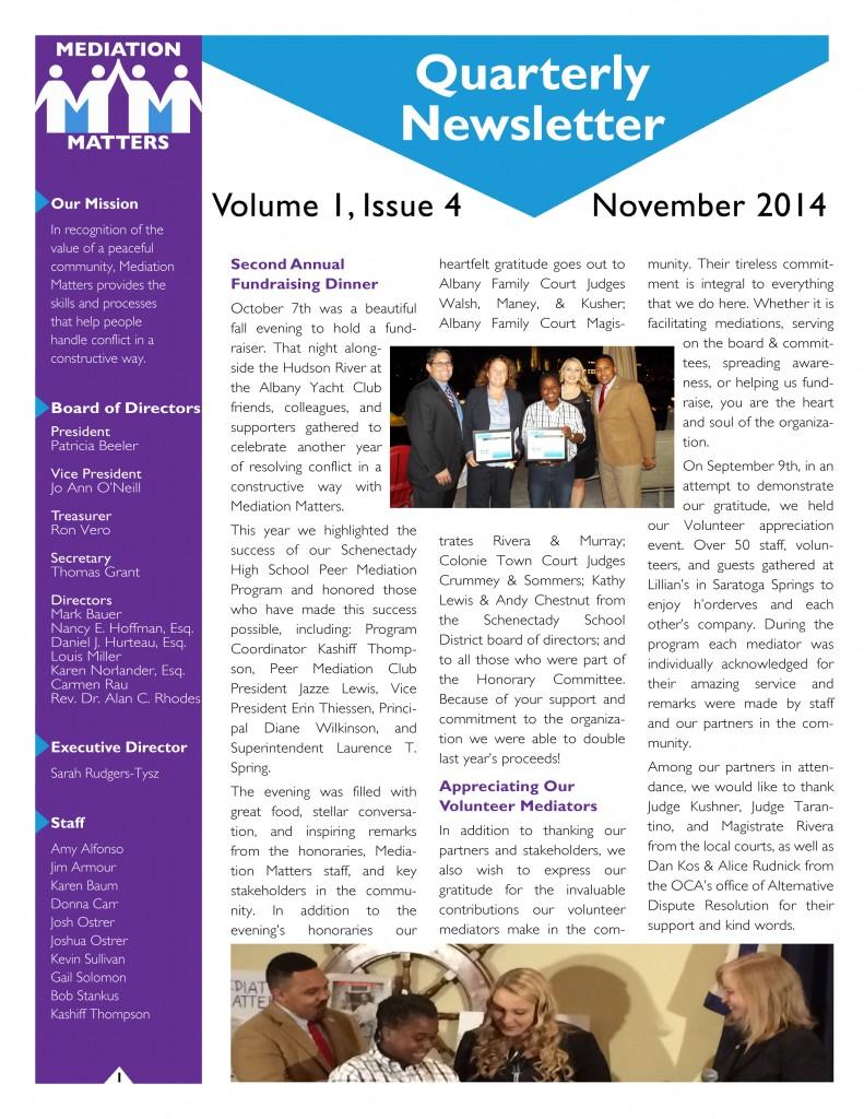 MM Newsletter Front - Draft - Quarterly Newsletter